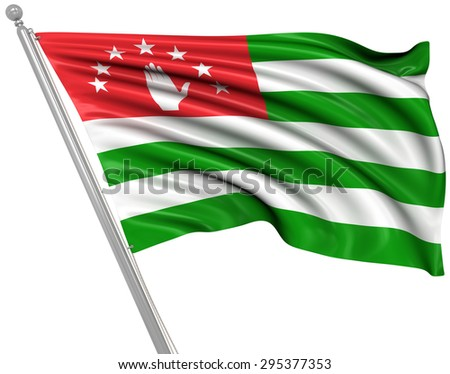 Flag of Abkhazia , This is a computer generated and 3d rendered picture.
