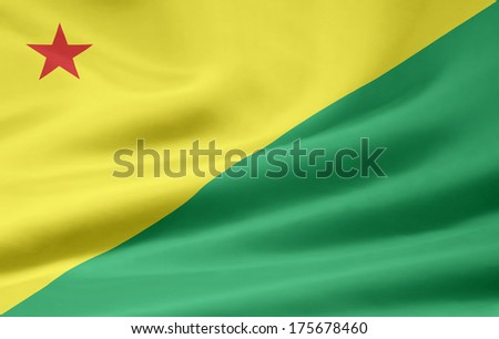 Flag of Acre - Brazil - stock photo