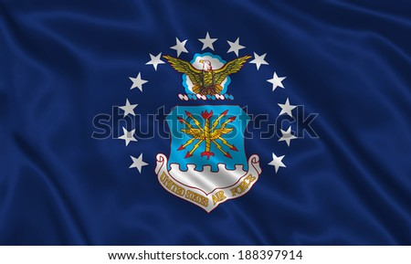 Flag of Air Force US - stock photo