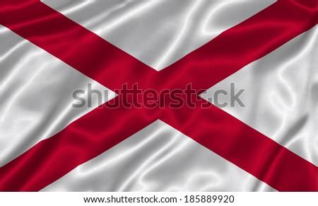 Flag of Alabama state (USA)  - stock photo