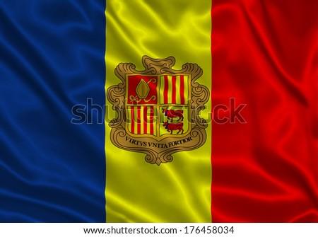 Flag of Andorra - stock photo