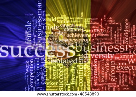 Flag of Andorra, national country symbol illustration wavy business success concept