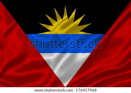 Flag of Antigua and Barbuda - stock photo