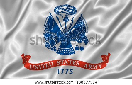 Flag of Armed Forces of the United States - stock photo
