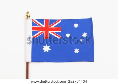 Flag of Australia - stock photo