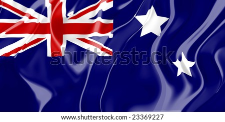 Flag of Australia, national country symbol illustration