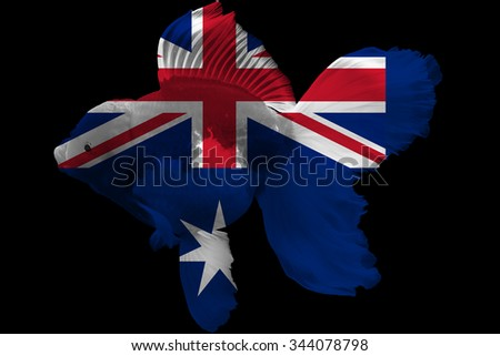 Flag of Australia on goldfish