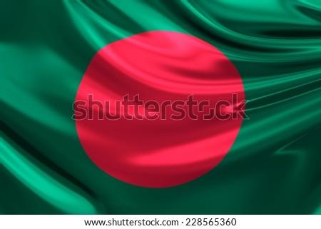 Flag of Bangladesh. - stock photo