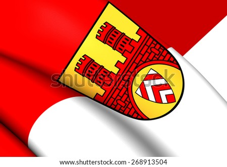 Flag of Bielefeld, Germany. Close Up. - stock photo