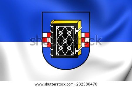 Flag of Bochum, Germany. Close Up.    - stock photo