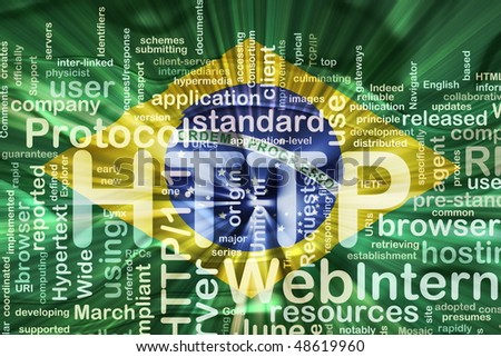 Flag of Brazil, national country symbol illustration wavy http internet www - stock photo