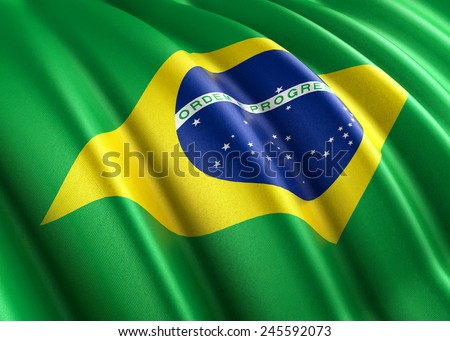Flag of Brazil (photorealistic)