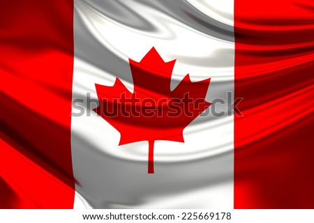 Flag of Canada. - stock photo