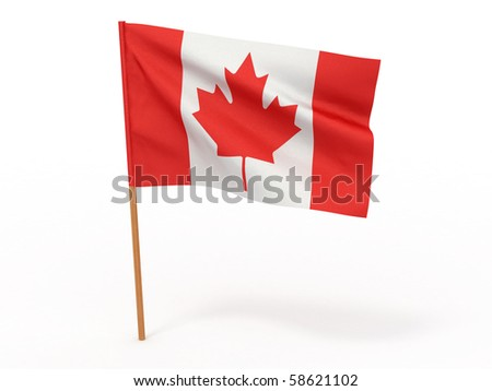 Flag of canada. 3d - stock photo