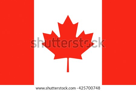 Flag of Canada is a country in the northern part of North America - stock photo