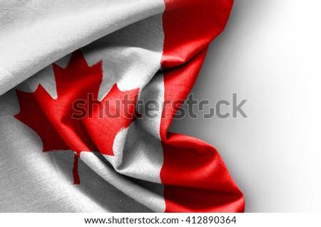 Flag of Canada on white background - stock photo