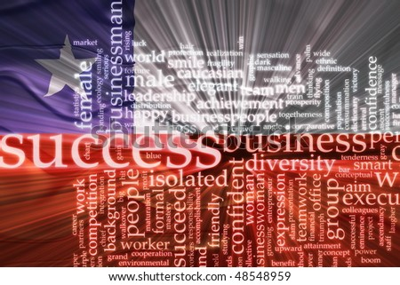 Flag of Chile, national symbol illustration clipart wavy business success concept