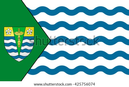Flag of City of Vancouver in the Canadian province of British Columbia - stock photo
