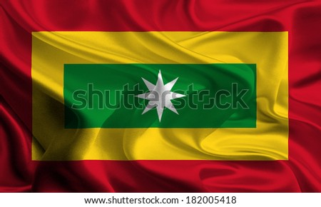 Flag of Colombian City Barranquilla - stock photo