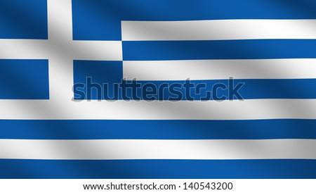 Flag of Creece - stock photo
