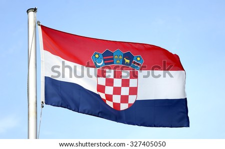 Flag of Croatia - stock photo