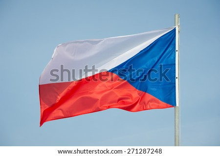 Flag of Czech Republic - Czech Republic Flag  - stock photo