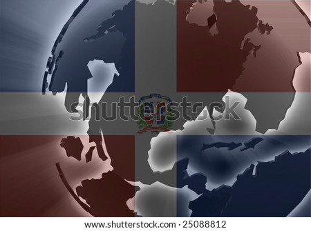 Flag of Dominican Republic, national country symbol illustration - stock photo