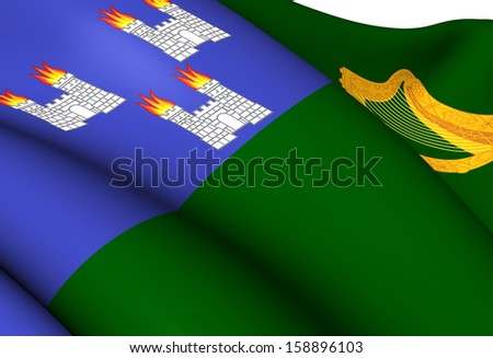 Flag of Dublin. Close Up.