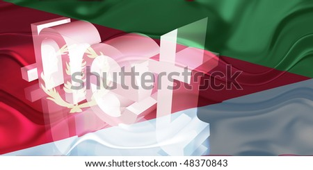 Flag of Eritrea, national country symbol illustration wavy net domain website
