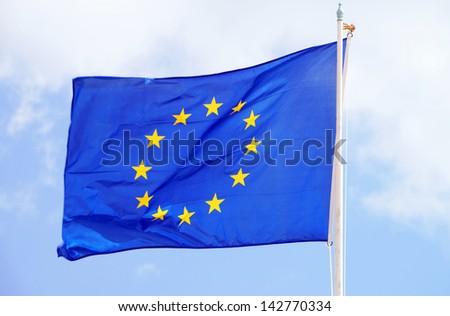 Flag of Europe / Europe - stock photo