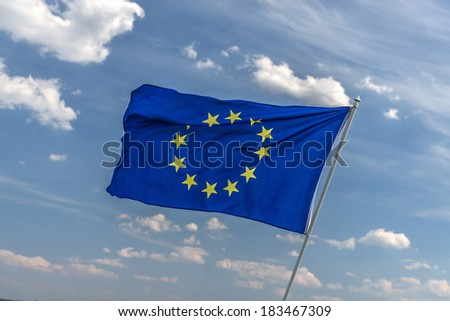 flag of europe union closeup