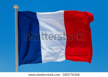 Flag of France. Abstract background. - stock photo