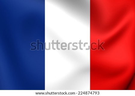 Flag of France. Close Up.