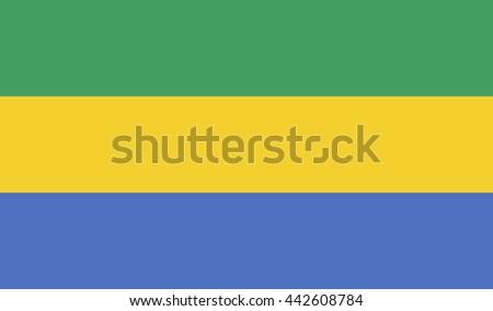 Flag of Gabon - stock photo