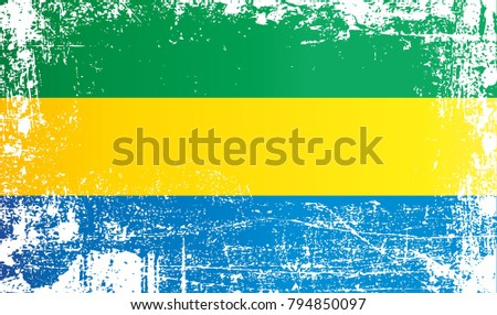 Gabonese republic stock images royalty free images vectors flag of gabon gabonese republic wrinkled dirty spots can be used for design sciox Gallery