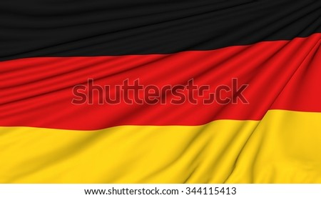 Flag of German, 3d illustration with fabric texture