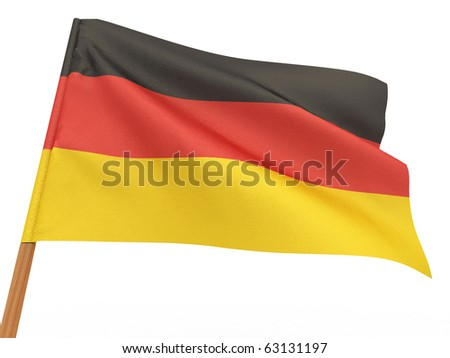 Flag of germany . 3d