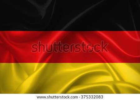 Flag of Germany 3D, silk texture
