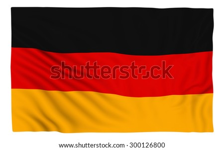 Flag of Germany , isolated on white.
