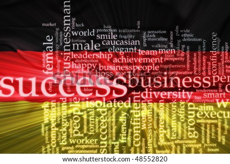 Flag of Germany, national country symbol illustration wavy business success concept