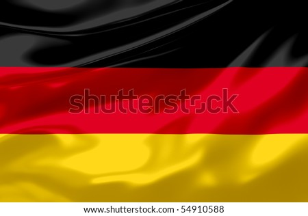 Flag of Germany waving