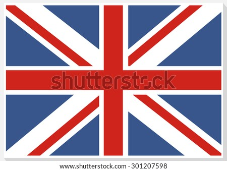 Flag of Great Britain. Official UK flag of the United Kingdom.  - stock photo