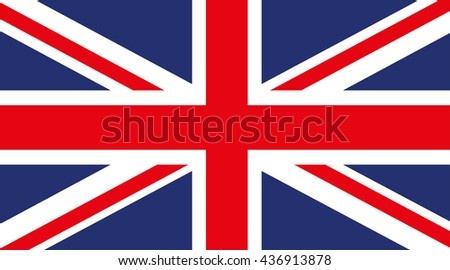 Flag of Great Britain. Precisely executed on a white background