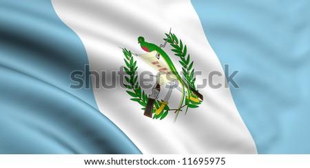 Flag Of Guatemala - stock photo