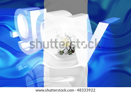 Flag of Guatemala, national country symbol illustration wavy gov government website - stock photo