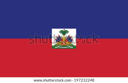 Flag of Haiti. Accurate dimensions, element proportions and colors.
