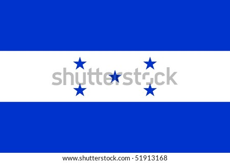 Flag of Honduras - stock photo