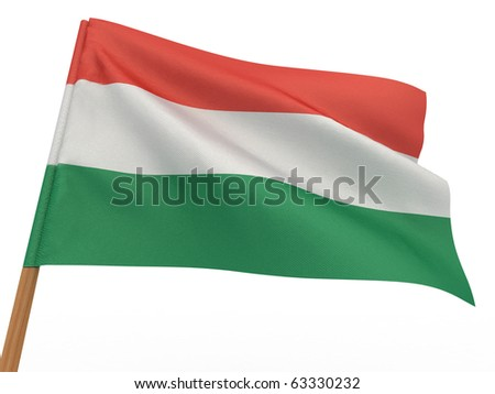 Flag of hungary . 3d - stock photo