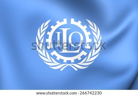 Flag of ILO. Close Up.    - stock photo