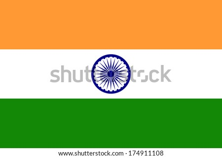 Flag of india. - stock photo